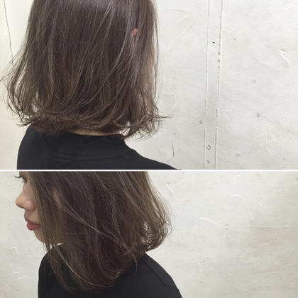 カラー ショート ミディアム Real salon work✂︎ [外ハネボブ&極細ハイライト×ラベンダーグレイッシュ☆]  Cutは、やや前下がりバランスでかわいいよりは、クールなバランスに✂︎ 量感調整がpoint☝︎ ギリギリまで軽くしつつ、毛先の重さは残す事で、ふわっとした柔らかい髪の質感を作る⭕️  ハイライトは、極細に全体的に入れる事で、 退色後も繊細な束感の出るようにイメージして。 カラーは、グレーとラベンダーアッシュのmix☆ カットとカラーで柔らかさと繊細な透明感を 引き出して✔️✔️ . . #NAKAIstyle #ヘアスタイル#外ハネ#ボブ#カラー#ブリーチ#ハイライト#デザインカラー#グレージュ#ラベンダーアッシュ#アッシュグレー#アッシュベージュ#外国人風#大人カラー#お客様カットカラー