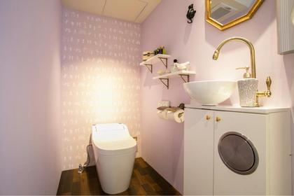 店内写真。清潔な化粧室です^ ^かわいいと大好評です! canon【カノン】HairMake所属・大岡杏子のスタイル