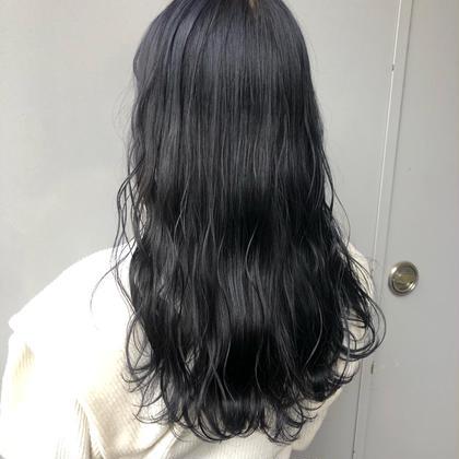 📣就活生応援メニュー📣💙暗髪透明感黒染めカラー+炭酸spa+最高級TOKIOトリートメント+お出かけコテ巻き💙
