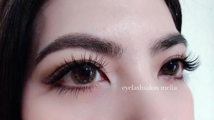 セーブル cカール 目頭から12,13,12㍉  真ん中長めでパッチリ仕上がりました♡ eyelashsalon melia所属・eyelashmeliaのフォト
