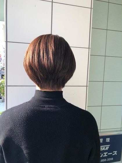 【ショートヘア限定】ボリュームダウンストレート+カット+ケアトリートメント(シャンプー、仕上げ込み)