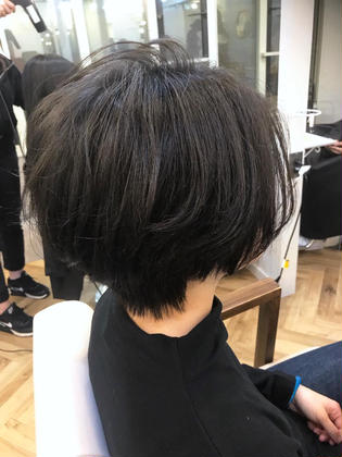 カラー ショート short bob / 効果的highlight / addicthy / greige✂︎