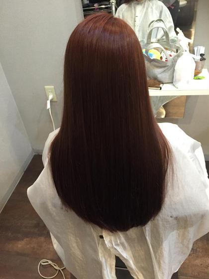 濃いめのピンクでツヤツヤの秋カラーに仕上げました! Ciel所属・菅野志伸のスタイル
