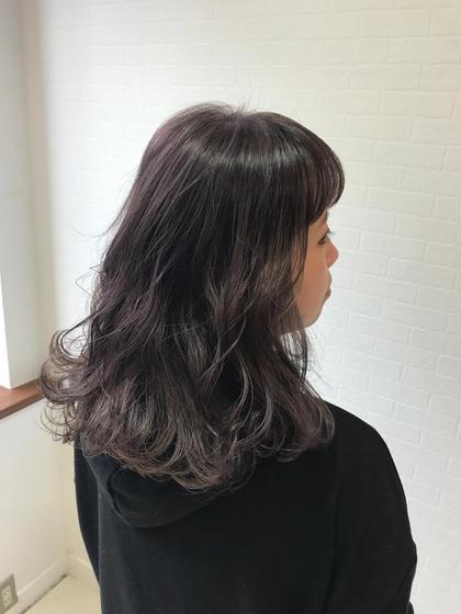 お手軽❤️外国人風秋冬カラー&前髪カット