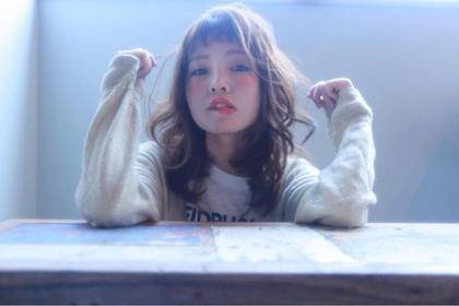 ベビーバングゆるふわミディアム LOVELEY所属・横田芽衣のスタイル
