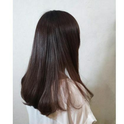 cut+throwcolor+フローディア4steptreatment+髪質改善チューニングクリーム