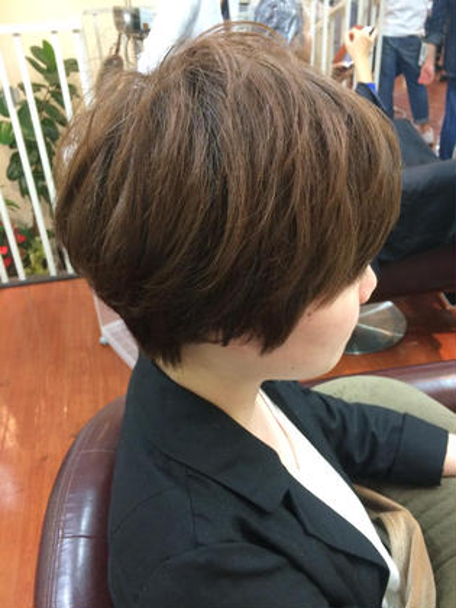 スッキリショート 頭の形を綺麗に出します hair an floren所属・みつはしかずきのスタイル