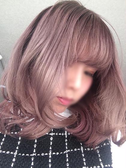 透明感/ピンクアッシュ/ハイトーンカラー/フェミニン 美容室だるま所属・おかもとまいのスタイル