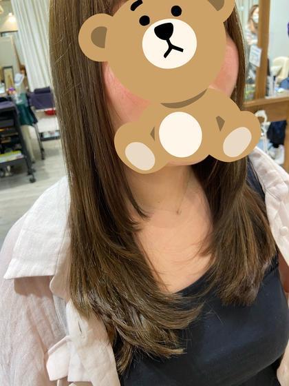 ミディアムカット+ワンカラーモデル🍀デザインカラーご希望の方はあらかじめご連絡ください!!