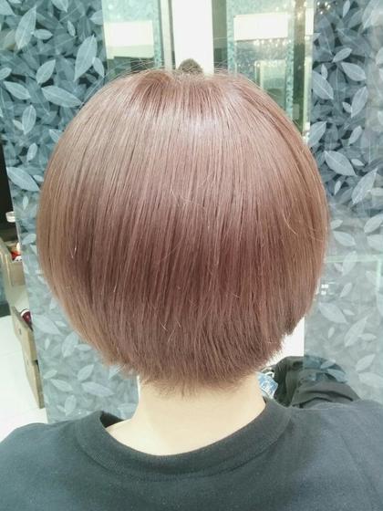 淡いピンクアッシュ 春の暖かみを感じますね~✌ ちなみにブリーチ毛です QUATRO ユーロード所属・TANKADAIKIのスタイル