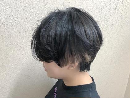 カラー ショート インナーカラー ショートヘア