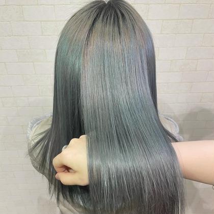 ダブルカラー+髪質改善トリートメント🥝
