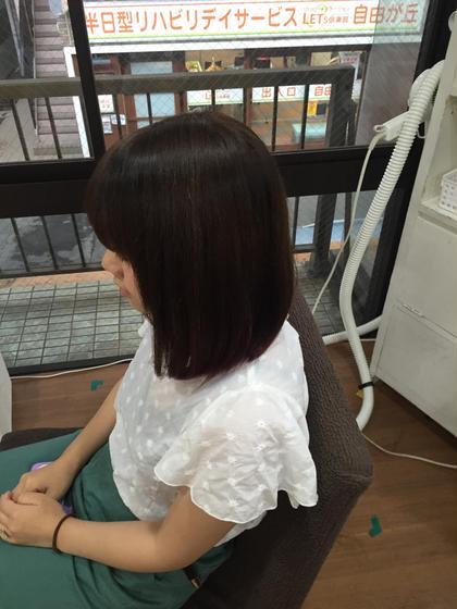 毛先のダメージでパサついた髪の毛を自然な内巻きに入るよう ヘアカットいたしました ハンドブローでこの仕上がりです(^O^) トライスターアカデミー所属・熊谷椋翔のスタイル