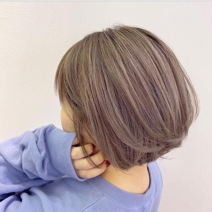 🌈ミニモ開設記念お試し価格🌈シースルーカラー+カット+髪質改善プチオージュア