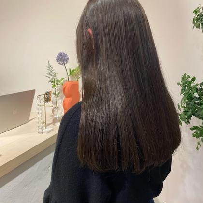 【2021年10月限定】うる艶カラー+髪質改善トリートメント❤︎ストレートorゆるふわ巻き仕上げ🕯🤍
