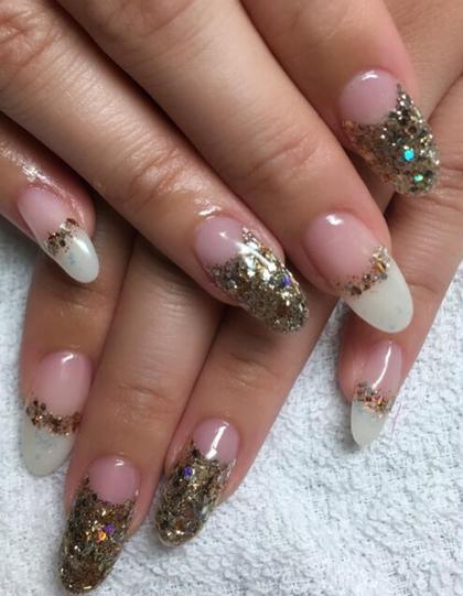 スカルプ ラメ 逆フレンチ、フレンチ beauty salon M&I所属・BeautyM&Iのフォト