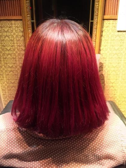 ブリーチオンカラーで綺麗なピンクに♡ ポイントでいれてもかわいー♡ grace  hair dressing所属・もちづきのぞみのスタイル