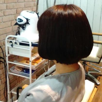 簡単スタイリングショートボブ('-'*)♪ 髪質改善ヘアエステhanare所属・本間あゆみのスタイル
