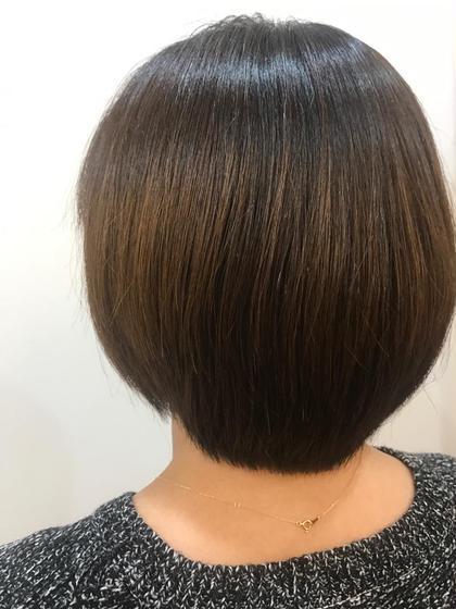 シルキーカット お客様の骨格や髪質、毛量を考え まとまりやすく、お家でのお手入れがしやすいよう カットしました!  アローズソワン琴似店所属・菊地琢巳のスタイル