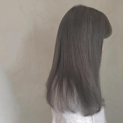 カラー ロング 1bleach+イルミナcolor♡ヌーディーベージュ♡可愛い!