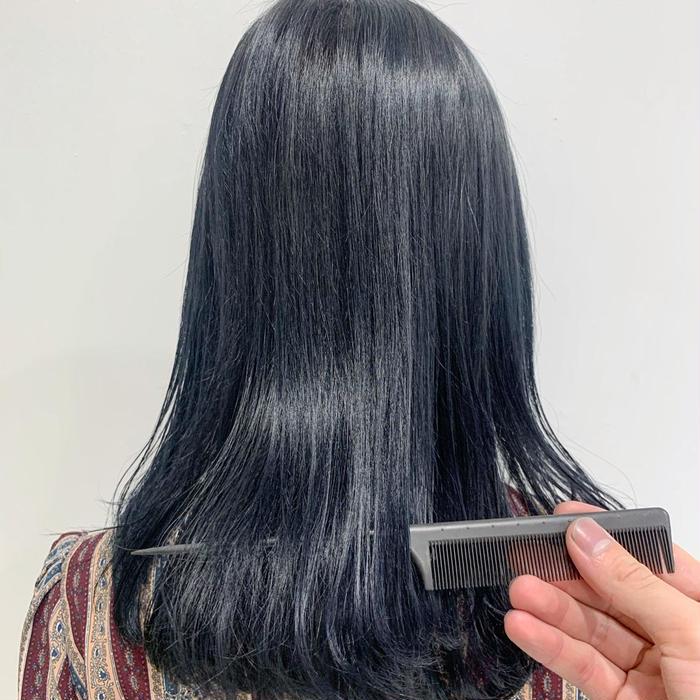 ブルー なし ネイビー ブリーチ ブリーチせずに綺麗なネイビーのヘアカラーにする方法