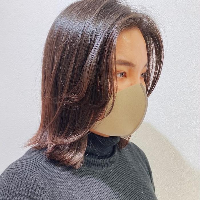 なし ミニボブ 前髪