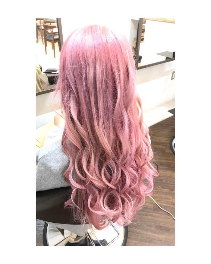 カラー バター ピンク