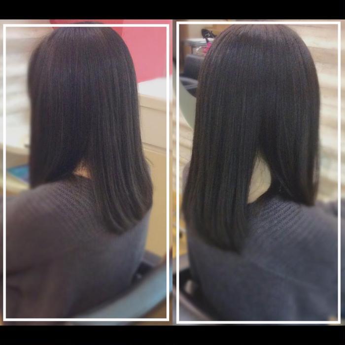 毛先の重さを取りすぎずしっかり調整していくことで、まとまりやすい ...