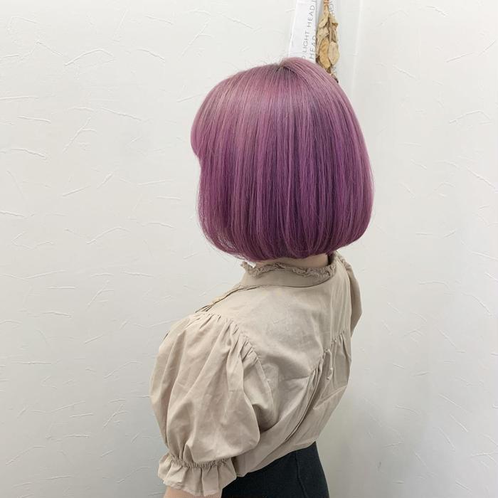 ミディアム ブリーチで作るピンクヘアー どんな色でも作れます