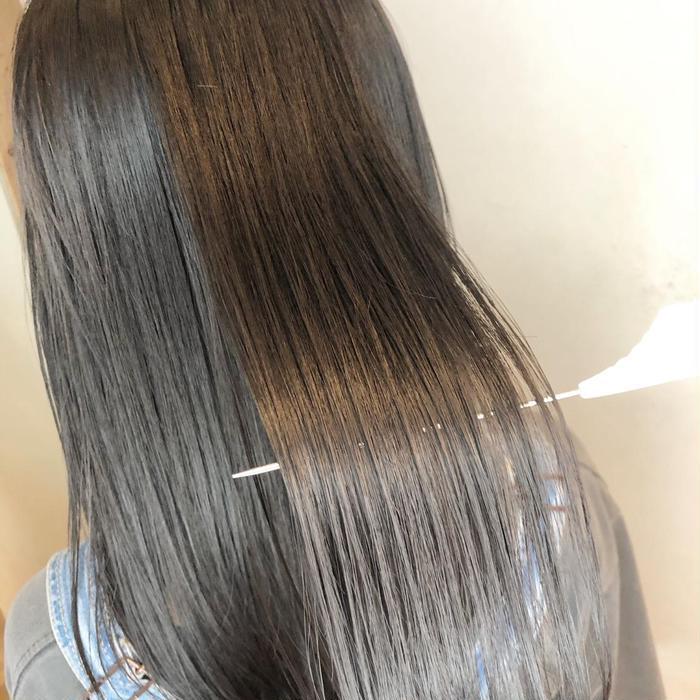 ロング 髪質改善メニューでツヤサラに😊