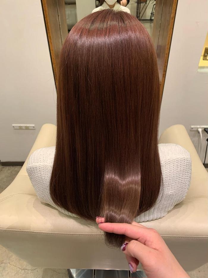 その他 カラー ロング ブリーチをしてる髪の毛でもここまでツヤツヤに👼🏻✨