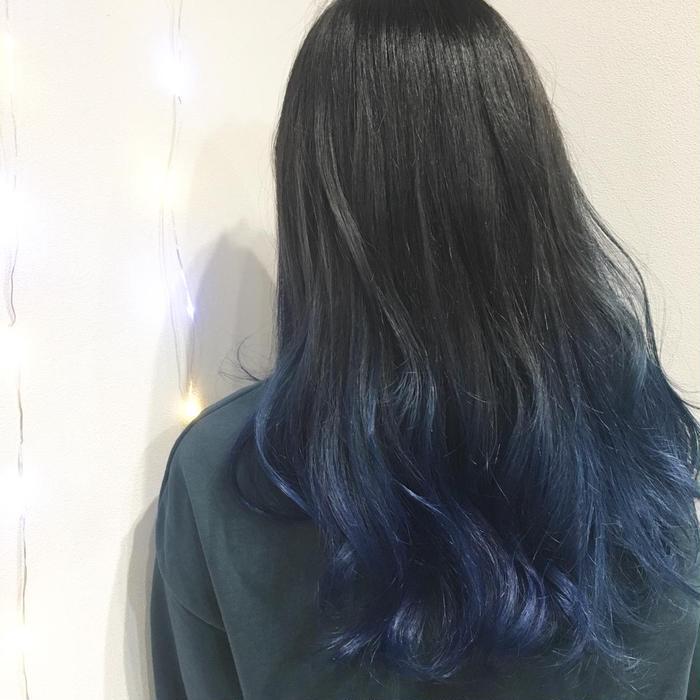 ブルー ヘア カラー ネイビー