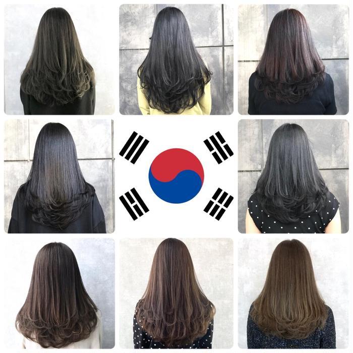 レイヤー カット 韓国