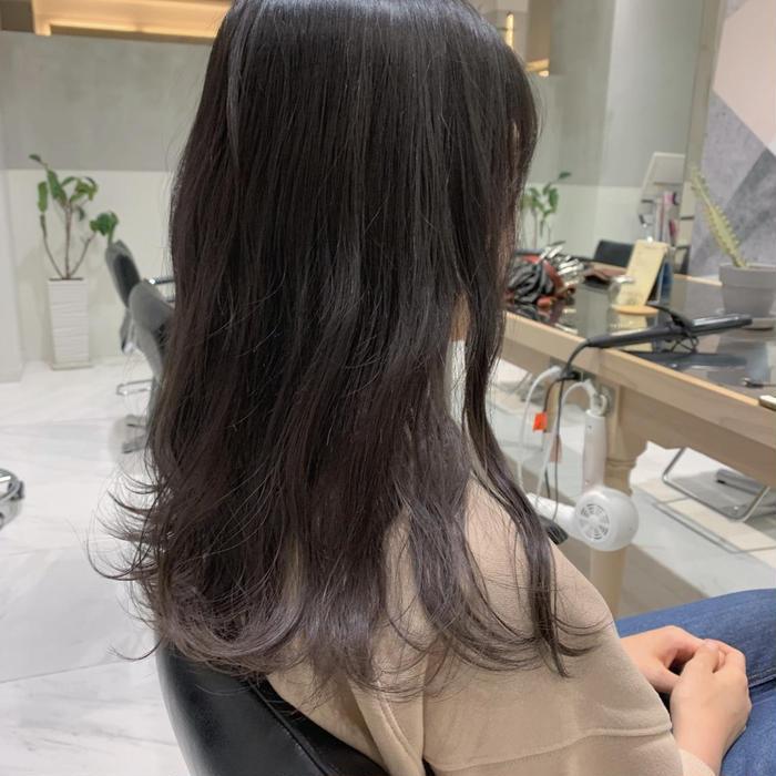 その他 カラー セミロング 🐰🖤dark gray🖤🐰 1bleachベースの髪の毛に🌛