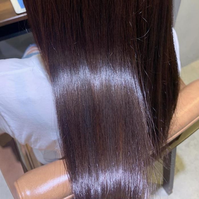 ロング 髪質改善トリートメント何度も繰り返すと髪質が本当に変わります🧴