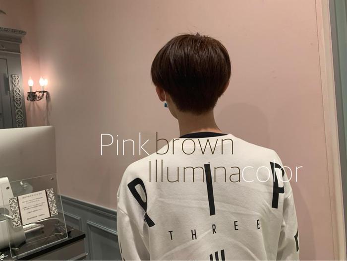 カラー イルミナカラーでピンクブラウン系カラー作りました♪♪♡ 可愛い系の色味