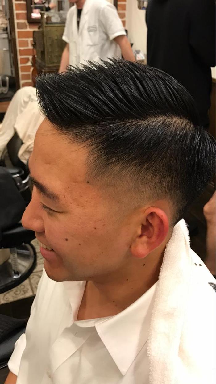 カット 短髪 フェード