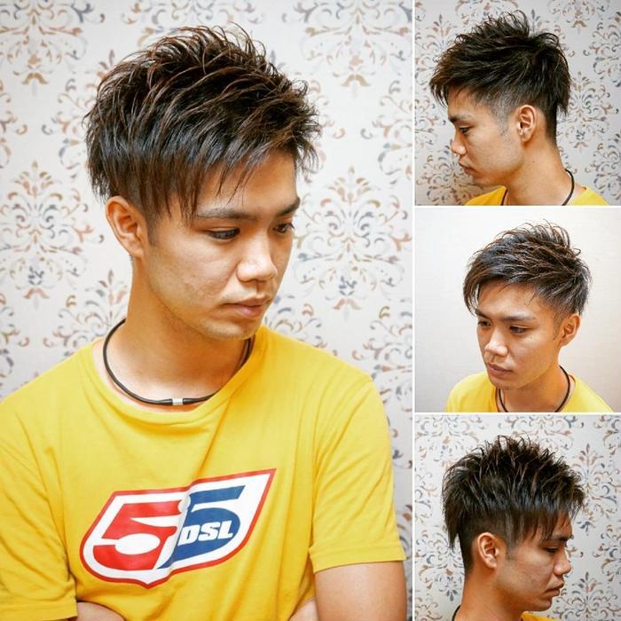 ショート ベリー ブロック 髪型 アシメ ツー メンズ