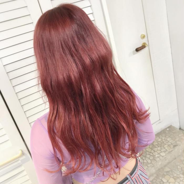 ピンク 髪 色 チェリー